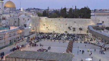 Time-laps of wailing wall during twilight — Stock Video