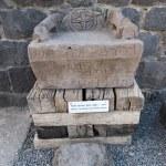 Basalt armchair in Korazim — Stock Photo #58870139