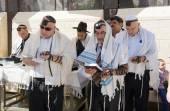 Bar Mitzvah ritual at the Wailing Wall — Stock Photo