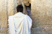 Wailing wall in Jerusalem — Stock Photo