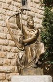 Statua di re david — Foto Stock