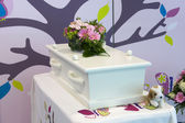 Coffin for child — Stock Photo