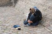 Begging for money — Stock Photo