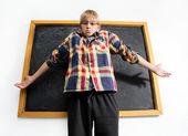 Weak schoolboy — Stock Photo