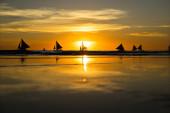 Evening at sea — Stock Photo