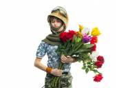 молодой солдат — Стоковое фото