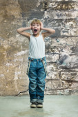 Boy in jeans — Stock Photo