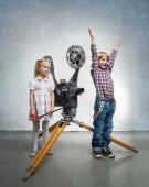 Children in a cinema — Stock Photo