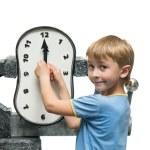 Boy with clock — Stock Photo #75495181