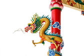 Dragon on pole — Stock Photo
