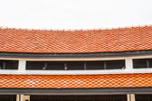 Red tile roofs — Stock Photo