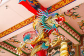 Dragons in chinese temple — Stock Photo