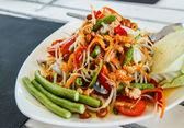 Groene papaja salade — Stockfoto