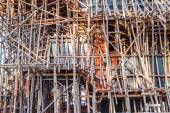 Wooden scaffolding — Photo