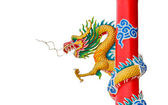 Dragon on pole — Stock Photo