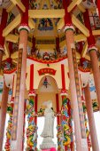 Art in a Chinese temple — Stock Photo