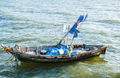 Small fishing boats on the beach Thailand — Stock Photo