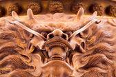 Encens dragon dans le temple chinois — Photo