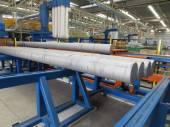 Aluminum rods — Stock Photo