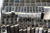 Aluminum Shapes — Stock Photo