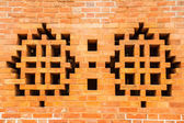 Vents brick wall — Stock Photo