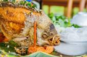 Fried fish prepared in the traditional Vietnamese — Stock Photo