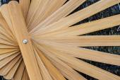 Fan made from bamboo — Stock Photo
