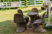 Bahçe sandalyeler — Stok fotoğraf
