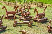 Wooden Toys thailand — Stock Photo