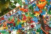 Birds of paper folding — Stock Photo