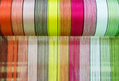 Raw silk thread color for background. — Stock Photo