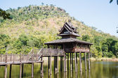 Scripture hall in the pond, Thailand. — Stock Photo