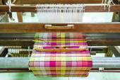Loom for weaving silk in Thailand. — Stock Photo