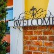 Welcome sign made of steel — Stock Photo #61748733