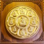 ������, ������: NONTHABURI THAILAND December 27: Buddha statues Wat Borom Rac
