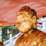 Постер, плакат: NONTHABURI THAILAND December 27: Buddha statues Wat Borom Rac