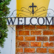 Welcome sign made of steel — Stock Photo #61749849
