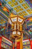 Nonthaburi -THAILAND -December 27:lamp in Chinese temple at Wat  — Stock Photo