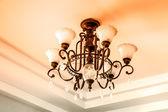Lamp metal ceiling light fixture — Stock Photo