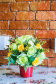 Bouquet of flowers on the table — Stock Photo