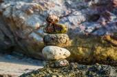 Rocks on the coast of the Sea in the nature — Stock Photo