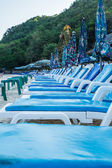 Beach chairs on Koh Larn Pattaya.Thailand — Stock Photo