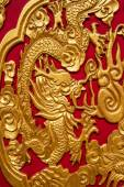 NONTHABURI-THAILAND -December 27 : golden dragon decorated on re — Stock Photo