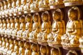 NONTHABURI, THAILAND - December 27: Buddha statues Wat Borom Rac — Stock Photo