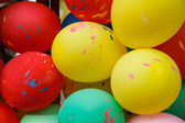 Colorful funny balloons — Stock Photo