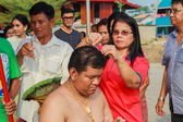 Bangkok March 1: a series of initiation rites that have changed  — Stock Photo
