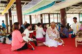 Bangkok el 1 de marzo: una serie de ritos de iniciación que han cambiado — Foto de Stock
