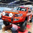 Постер, плакат: Bangkok Thailand April 4 2015: Isuzu car shows in 36 Bangkok