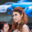 Постер, плакат: Nonthaburi Thailand April 4th 2015: Mazda booth with presente
