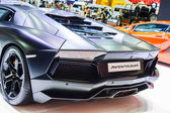 Bangkok, Tajlandia - 4 kwietnia 2015: Lamborghini bikini samochód pokazuje — Zdjęcie stockowe